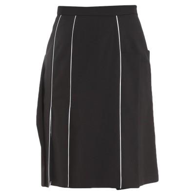 BURBERRY ひざ丈スカート ブラック 4 ウール 98% / ポリウレタン 2% ひざ丈スカート