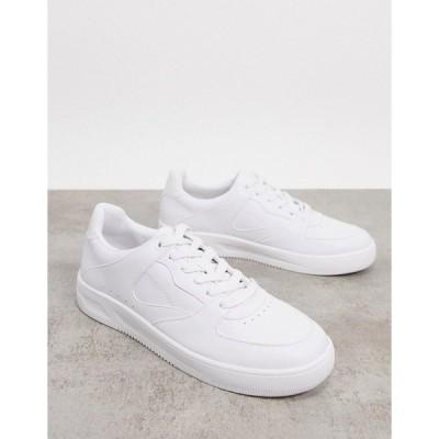 プルアンドベア メンズ スニーカー シューズ Pull&Bear sneakers in white White