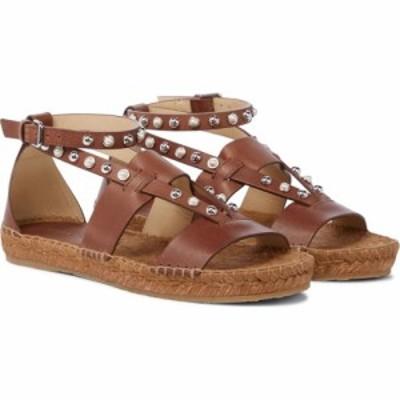 ジミー チュウ Jimmy Choo レディース エスパドリーユ サンダル・ミュール シューズ・靴 Denise leather espadrille sandals Cognac/Whit