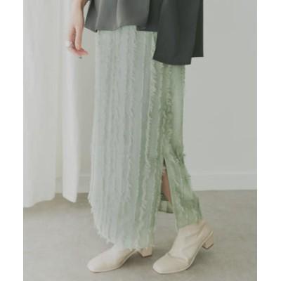 KBF+ フリンジJQストレートスカート