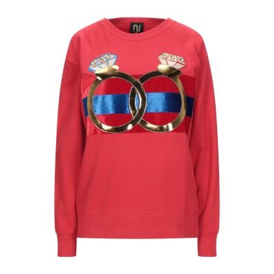 NIL & MON スウェットシャツ レッド XS コットン 80% / PES - ポリエーテルサルフォン 20% スウェットシャツ