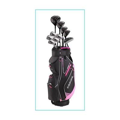 Aspire PRO-X ゴルフセット (女性用、右利き、チタンF Dr、3W、4UT、5UT、7I、8I、9I、PW、SW、PT、ゴルフバッグ1
