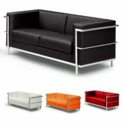 ソファー ソファー2人掛け 2人掛け おしゃれ ル・コルビジェ LC2 デザイナーズ ソファー Le Corbusier 2P 二人掛け 赤 ソファ sofa ブラ