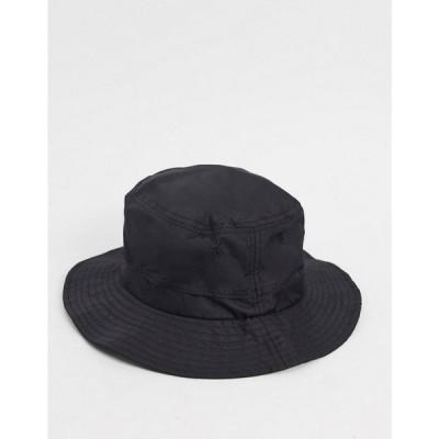 ウィークデイ Weekday メンズ ハット バケットハット 帽子 Connected bucket hat in black ブラック