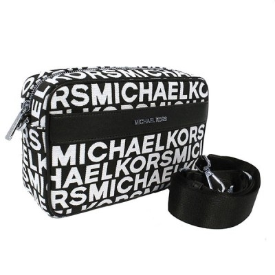 MICHAEL KORS マイケルコース ショルダーバッグ ブラック ホワイト キャンバス レザー 35S0SY9C3J ショルダー レディース 新品未使用