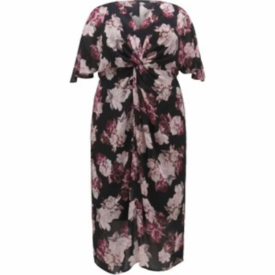フォーエバーニュー Forever New レディース ワンピース ワンピース・ドレス Nora Twist Front Curve Dress Winter Bloom