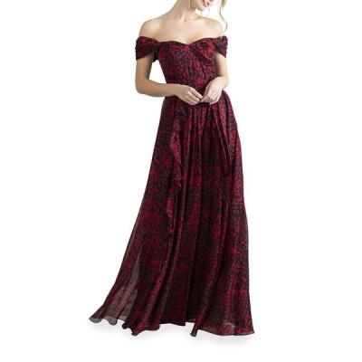 ショシャーナ レディース ワンピース トップス Anais Arbor Vines Off-the-Shoulder Dress