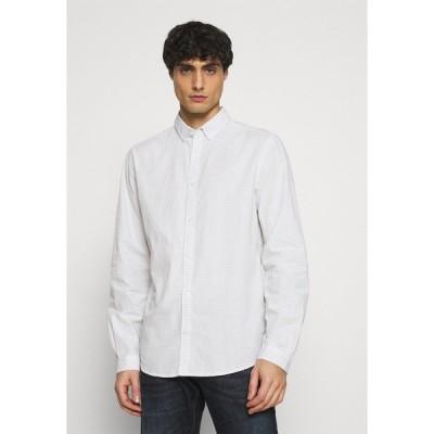 トムテイラー シャツ メンズ トップス Shirt - off white/blue navy