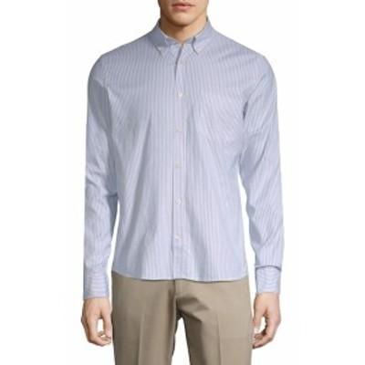 J. リンデベルク メンズ カジュアル ボタンダウンシャツ Pinstripe Button-Down Shirt