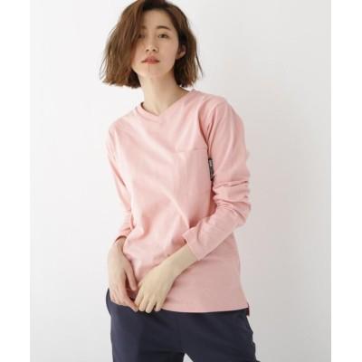 (BASECONTROL/ベースコントロール)長袖 Tシャツ Vネック WEB限定 11251/レディース ピンク(072)