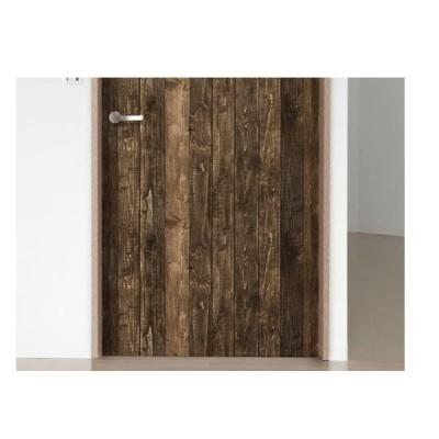 明和グラビア 貼ってはがせる 室内用 ドア装飾シート 88cm×210cm DOD-06 エイジ木 ブラウン 221970
