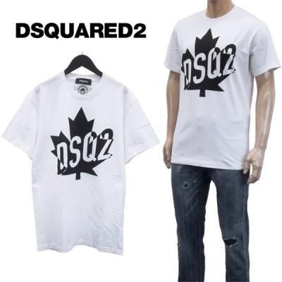 ディースクエアード DSQ2 Big LeafTシャツ S74GD0786-S22844-100
