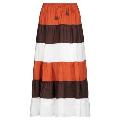 スーベニア SOUVENIR ロングスカート オレンジ S コットン 100% ロングスカート