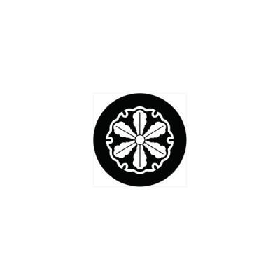 家紋シール 筒井順慶 雪輪に六つ薺 直径4cm 丸型 白紋 4枚セット KS44M-3270-01W