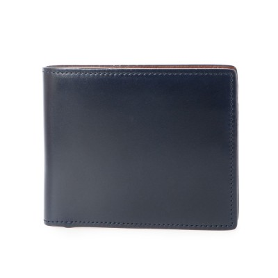 グレディア GREDEER コードバン二つ折財布 (ブルー)