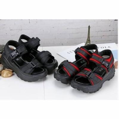 サンダル レディース フラット フラットサンダル 厚底サンダル 疲れにくい 歩きやすい 走れる 履きやすい 痛くない 夏 スポサン