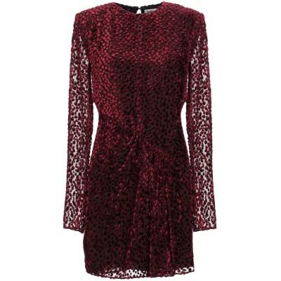 SAINT LAURENT ミニワンピース&ドレス ボルドー 38 レーヨン 60% / シルク 40% ミニワンピース&ドレス