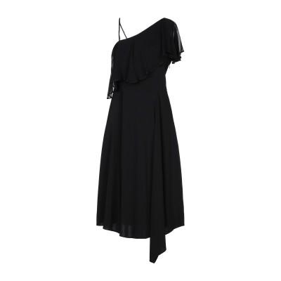 ジャッカ JUCCA 7分丈ワンピース・ドレス ブラック 40 レーヨン 95% / ポリウレタン 5% 7分丈ワンピース・ドレス