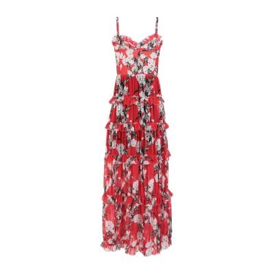 GIUSEPPE DI MORABITO ロングワンピース&ドレス レッド 42 ポリエステル 100% ロングワンピース&ドレス