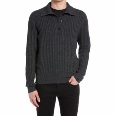 ラグandボーン RAG and BONE メンズ ニット・セーター トップス Eco Merino Blend Polo Sweater Charcoal