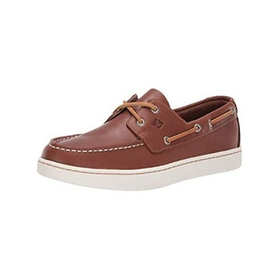 Sperry Mens Sperry Cup 2-Eye Boat Shoe, Tan, 7