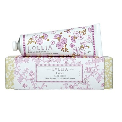 ロリア(LoLLIA) ハンドクリーム Relax 35g (蘭、ラベンダー、バニラとハニーの甘い香り) ショッパー付