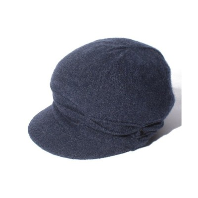 【ランバンオンブルー(傘)】LANVIN en blue(ランバンオンブルー) カシミヤキャスケット