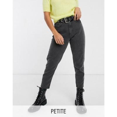 ノイズィーメイ Noisy May Petite レディース ジーンズ・デニム ボトムス・パンツ ankle grazer mom jean in black ブラック