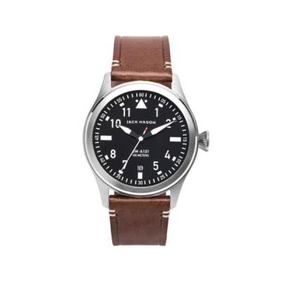 腕時計 ジャック メイソン Jack Mason JM-A101-002 Aviation Quartz Men's Black Dial Watch