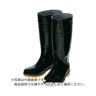 TRUSCO 鉄先芯入PVC耐油長靴 28.0CM ブラック ORSB280-BK ( ORSB280BK ) トラスコ中山(株)