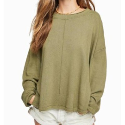 Free People フリーピープル ファッション トップス Free People Olive Green Womens Size Medium M Hi-Lo Pullover Sweater
