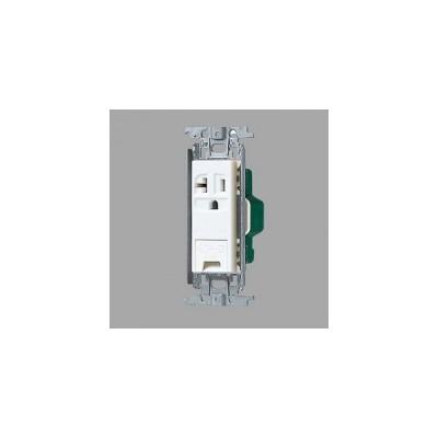 パナソニック 15A・20A兼用埋込アースターミナル付接地コンセント 金属取付枠付 20A 125V ホワイト WTF19313WK