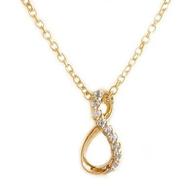 ピンクゴールド K10 ダイヤモンド ネックレス ペンダント K10pg ダイヤ 0.05ct