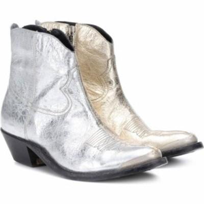 ゴールデン グース Golden Goose レディース ブーツ ショートブーツ シューズ・靴 young metallic leather ankle boots Gold/Silver