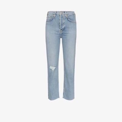 リダン RE/DONE レディース ジーンズ・デニム ボトムス・パンツ Stove pipe jeans blue