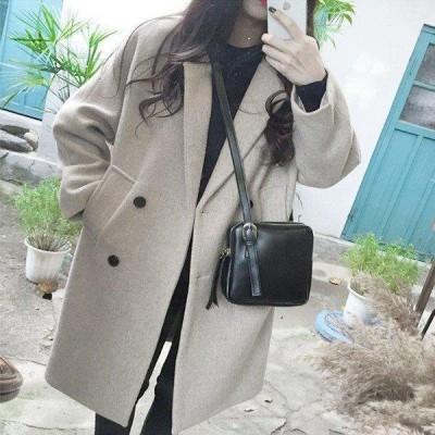 コート レディース チェスターコート ロングコート 無地 ゆったり カジュアル 2色 韓国風 春秋  40代 きれいめ アウター ジャケット