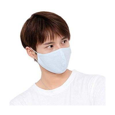 フェイスマスク 花粉 夏用マスク UV 日よけマスク 通気 フェイスカバー 紫外線対策 日よけカバー ブルー