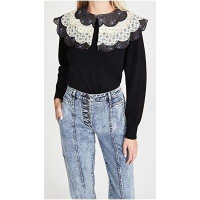 シー クルーネック セーター カーディガン レディースSea Ditsy Mix SweaterBlack