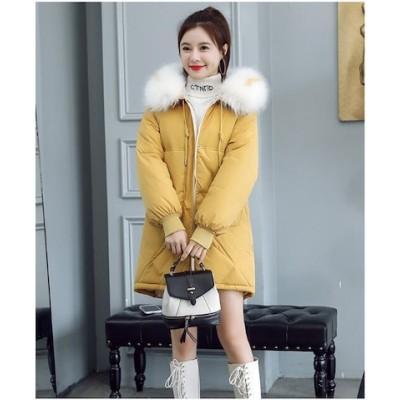 景品付き新金新品 新商品の韓国版のゆったりしている綿入れの上着の冬はinsパンの服の中で長い項の学生の羽毛の綿入れの服の潮を詰めます ML07