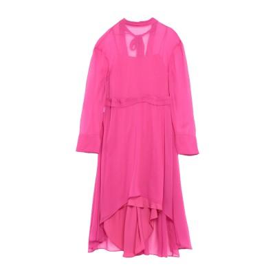 セドリック シャルリエ CEDRIC CHARLIER ミニワンピース&ドレス フューシャ 40 アセテート 50% / シルク 27% / ナイロ