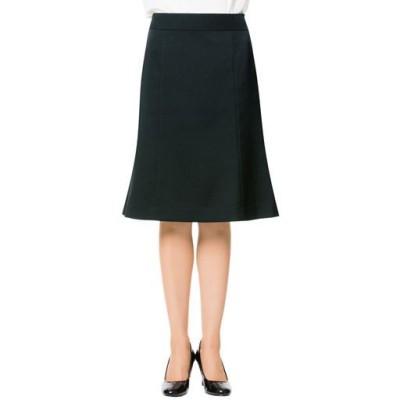 スーツ用マーメイドスカート(事務服・洗濯機OK)/ブラックA(総丈56cm)/70-95