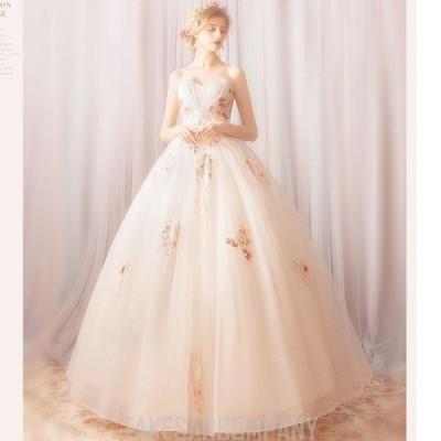 レディースワンピース ウェディングドレス オフショルダー レース ボリューム チュール パーティードレス マキシ丈 大人 二次会 /ドレス/結婚式//花嫁//披露宴