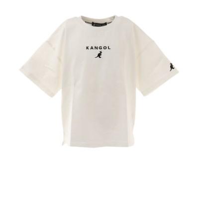 カンゴール(KANGOL)Tシャツ 半袖 ジュニア インパクトロゴ 887124 WHT