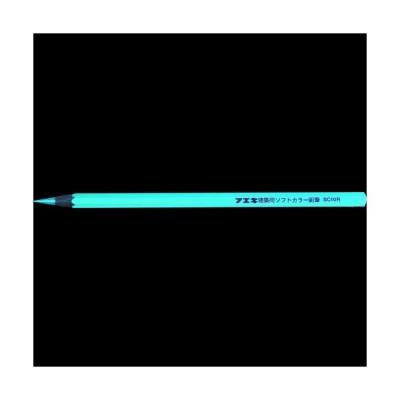 フエキ 建築用ソフトカラー鉛筆 赤 (3本入)【3本入 1Pk】8185639-3