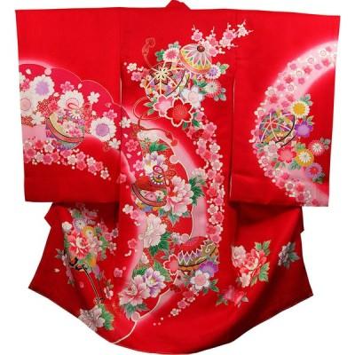 お宮参り 着物 女の子 祝着 初着 産着 正絹のしめ 新品j31001