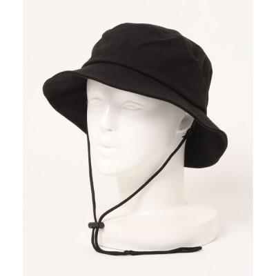 帽子 ハット スコール SQUALL / コットン着脱ドローコード付きバケットハット
