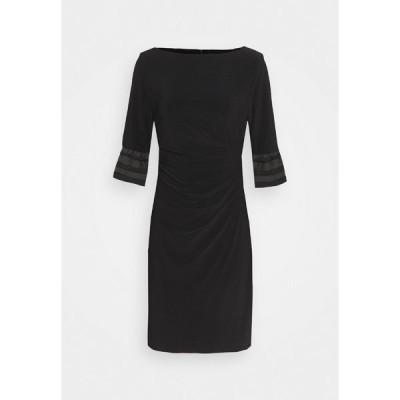 ラルフローレン ワンピース レディース トップス MID WEIGHT DRESS - Jersey dress - black