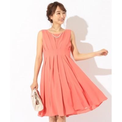 【エニィスィス/any SiS】 【洗える】レディタックシフォン ドレス