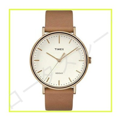 Timex メンズ フェアフィールド 41mm 腕時計 One Size タン/ゴールド/クリーム。 並行輸入品