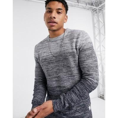 ジャック アンド ジョーンズ メンズ ニット・セーター アウター Jack & Jones Essentials sweater in gray fade